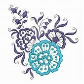 Blue Flower Embroidery Designs  EmbroideryShristi