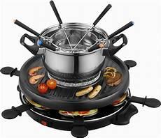 team kalorik raclette und fondue set tkg rac 1010 fo 6