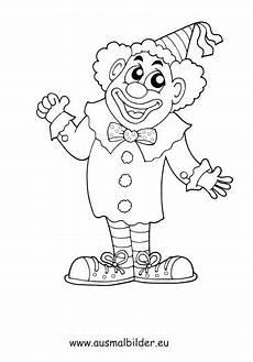 ausmalbild lachender clown zum kostenlosen ausdrucken und