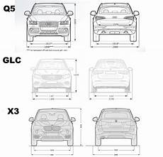 Abmessungen Glc X3 Q5 Front Back Abmessungen Vergleich