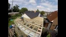 flachdach errichten auf meiner garage zeitraffer
