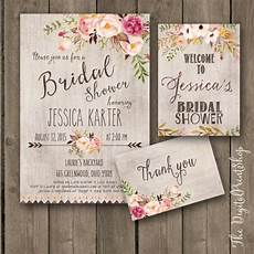 rustic garden bridal shower invitation invite welcome sign