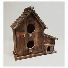 Cabane 224 Oiseaux En Bois Reprenant La Forme D Une Maison