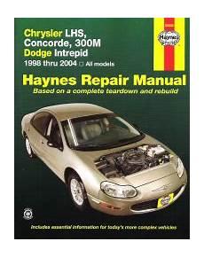 hayes car manuals 1994 chrysler concorde head up display 1998 2004 chrysler lhs concorde 300m intrepid haynes repair manual