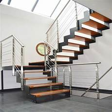 treppe stahl holz china stainless steel staircase with solid wood steps