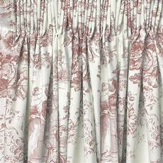 cotton chic toile de jouy lined curtains pink ebay