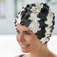 bonnet de bain vintage fleurs