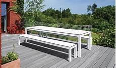 petit banc exterieur banc exterieur leuven blanc pour table de jardin todus