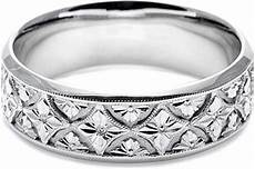 tacori mens wedding band with engraved scroll work 7