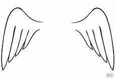 wings coloring page free printable coloring pages
