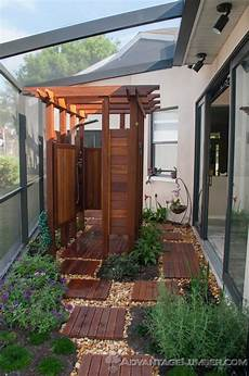 outdoor shower ideas content in a cottage