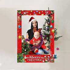 merry christmas photo booth props paper photo frame party decoration ebay