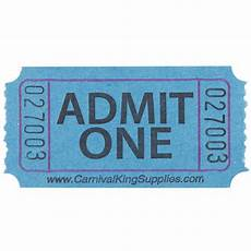 Carnival King Blue 1 Part Quot Admit One Quot Tickets 2000 Roll
