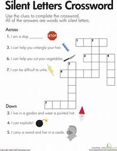 silent letter worksheets free printable 23760 silent letters crossword worksheet education