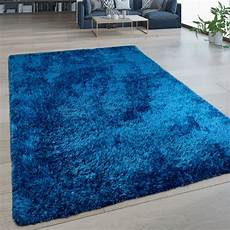 pile rug washable one colour blue rug24