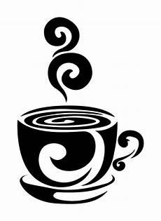wandschablonen ausdrucken tasse kaffee unterteller muster
