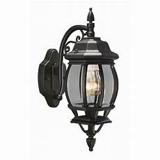 design house canterbury black outdoor wall die cast downlight 505545 the home depot