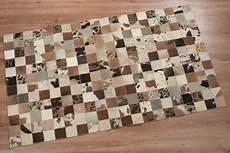 Kuhfell Teppich Patchwork - kuhfell teppich patchwork leder 150cm x 90cm fell