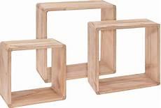 3er Würfel Regal - w 252 rfel wandregal 3er set aus holz 30 27 24 cm cube