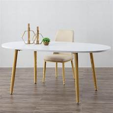 Table Scandinave Ovale Beige Et Blanche Noelle 3 Suisses