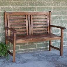 contemporary outdoor 2 seat garden bench with weather