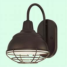 bronze outdoor light fixture 8 quot wide farmhouse wall sconce w wire cage porch ebay