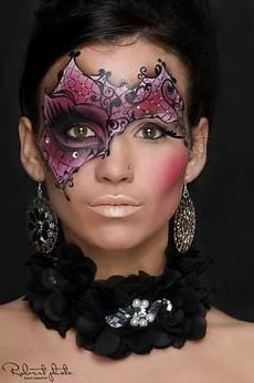 Creative Purple And Black Accented Masquerade Make