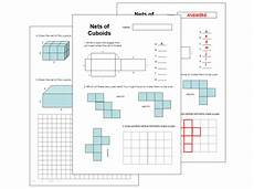 nets of cuboids worksheet by keith1964two teaching resources