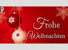 german word for merry christmas