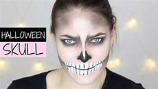 last minute skull makeup skelett schminken