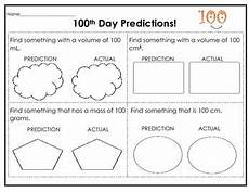 physics measurement worksheets for grade 7 1923 100th day metrics measurements predictions practice 100 days of school primary science 100