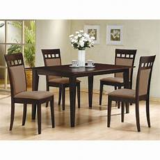 dining sessel rü 4 beige chair 150235 5 pc espresso brown 4 person table