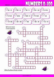 worksheets numbers 18176 numbers 0 100 crossword worksheet kindergarten level learn for