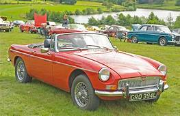 MG Sports Car At Ripley Castle Editorial Stock Image