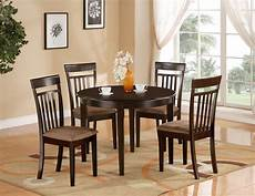 5 pc set round dinette kitchen table 4 microfiber upholstered chair cappuccino ebay
