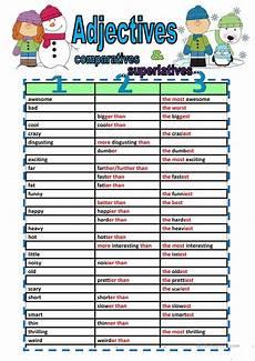 comparative and superlative adjectives fill ins worksheet free esl printable worksheets made