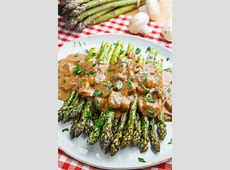 creamed asparagus and mushrooms_image