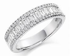 1 25ct and baguette cut diamond wedding ring wr3047