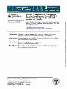 pdf selective expression of the 21 kilodalton tyrosine phosphorylated form of tcr zeta