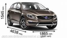 dimension volvo v60 volvo v60 cross country 2015 dimensions boot space and