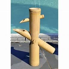 Fontaine Japonaise En Chaume De Bambou Beige L 40 X H