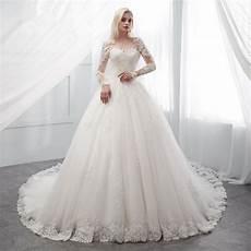 princess wedding dress white ivory ball gown long sleeve sale