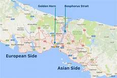 european side by side istanbul asian side map istanbul european side karte