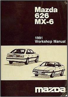 car owners manuals free downloads 1991 mazda 626 parking system 1991 mazda 626 mx 6 repair shop manual original