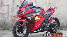Modifikasi Kawasaki 250 by Modifikasi Kawasaki 250 Fi Makin Unik Pakai Winglet