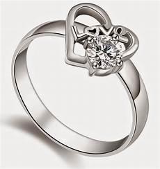 heart shaped women s wedding rings with diamond model
