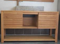 meuble en mercier carrelages meuble 02 salle de bain simple vasque en teck 120 ou 140 cm