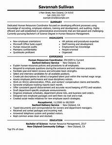 resume sumary human resources best hr coordinator resume exle livecareer