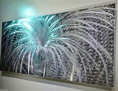 abstract metal art led colour light reflect wall decor original modern sculpture освещение