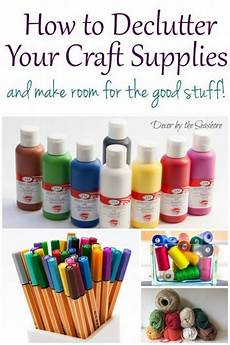 how to declutter your craft supplies and make room for the